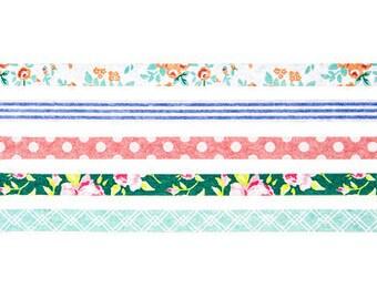 Skinny Spring Floral Washi Tape Set Embellishments & Paper Craft Supplies