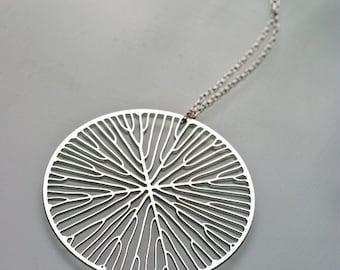 Peltate pendant (stainless steel) // geometric jewelry // art - science - nature // minimalist