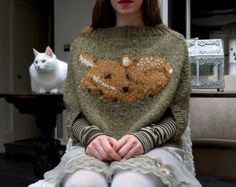 fawn poncho KNITTING PATTERN