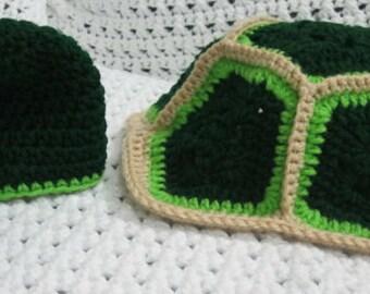 Crochet Turtle Photo Prop