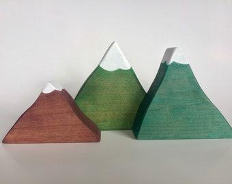 Mountain Blocks, Alder Wood Blocks, Set of 3