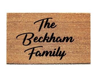 The Last Name Family Bold  Doormat - Door Mat - Custom Doormat - Personalized Doormat - Gift for Married Couple - Custom Mat - Wedding Gift