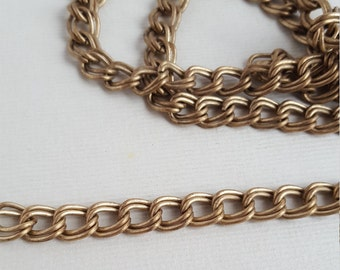 Vintage double curb link chain