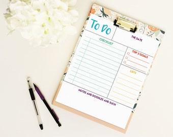 To do list letter size planner-  digital download- editable PDF