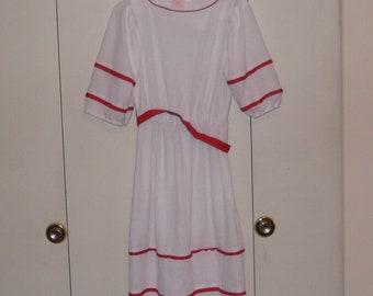 vintage 1960s white red lady carol dress