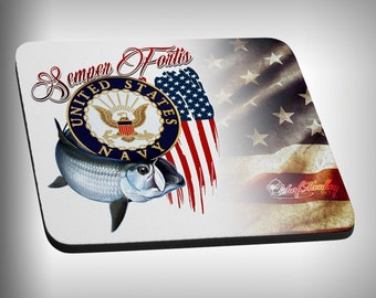 Navy Armed Forces Mouse Pad Custom Graphic Novelty Mousepad Great Gift Customized Personalized