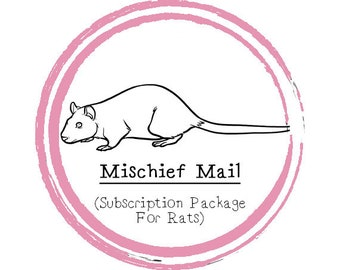Large Mischief Mail Package - Subscription Package For Rats - Subscription Box - Food Subscription - Rat - Rat Treats - Rat Food Monthly Box