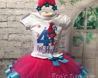 trolls outfit, trolls birthday, trolls birthday outfit, poppy outfit, poppy birthday, poppy tutu, trolls tutu, trolls birthday shirt,