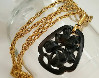 TRIFARI Faux Carved Stone Necklace