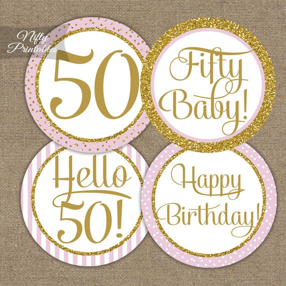 50th Birthday Cupcake Toppers 50th Birthday Party