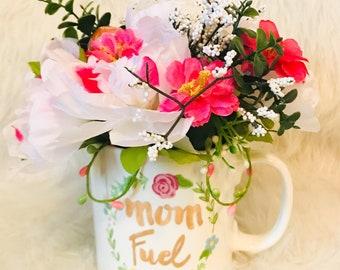 cup flower arrangements