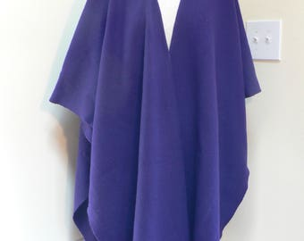 Purple Wool shawl poncho, wool poncho, wool cape, winter wool poncho, wool shawl,