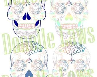 Sugar Skull Print N cut file