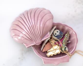 Vintage Shell Trinket Box