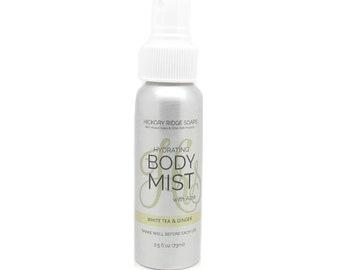 White Tea & Ginger Body Mist with Aloe - Body Spray, Linen Spray, Car Air Freshener, Room Spray, Perfume Spray