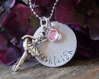 Hand Stamped Jewelry-Personalized necklace-Personalized Hand Stamped Dancer Necklace-Ballerina Necklace