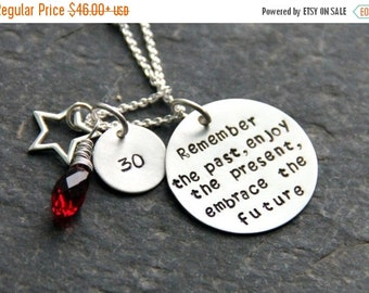 Teacher Retirement Gifts -  Gift For Retired Women - Milestone Birthday Gifts - Remember The Past Necklace - 30th Birthday - Corporate