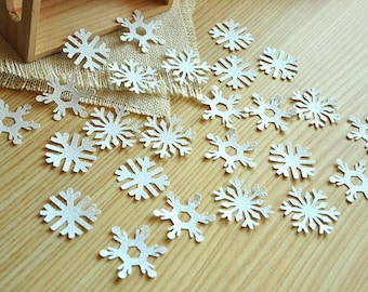 Frozen Birthday Party Decoration Confetti 25CT. Handcrafted in 2-5 Business Days.  White Glitter Snowflake Confetti.