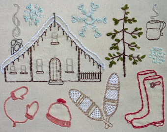 Into the Winter Woods Embroidery Pattern. Classic Series