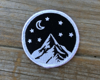 Mountain Patch, Embroidered Patch, Mountains, Nature Patch, Applique Iron On Patch, Adventure, Patches, Gifts for him, Gifts for her