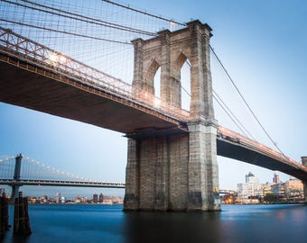 Brooklyn Bridge New York City Art Print Wall Decor Image Detail - Unframed Poster