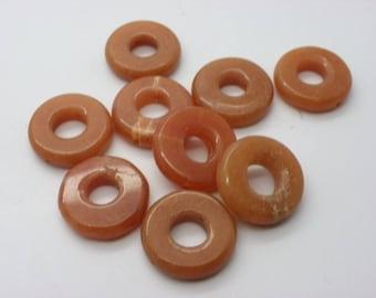 9 jade ring 21 mm caramel color