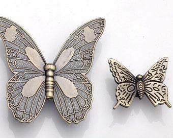 Butterfly Knobs Pulls Drawer Dresser Knobs Pulls Kitchen Cabinet Knobs Pulls Handles Antique Bronze Decorative Furniture Knob Pull Hardware