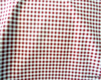 One Half Yard Cut Quilt Fabric, 1/4 inch Gingham, Cranberry Red, Sewing-Quilting-Craft Supplies
