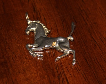 Sterling Silver Horse Charm Vintage from the 1980's Charm Pendant