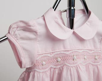 Cuclie Baby Smocked Pink Dress