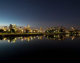 Lachine Canal - Montréal Skyline - Reflection - Montréal - Fine Art Print - Photograph - Wall Art - Decor