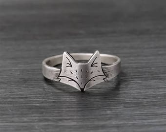 Silver Fox Jewelry, Fox Ring, Silver Fox Ring, I love foxes, Sterling Silver Fox Ring, Sterling Silver Fox, Silver Fox