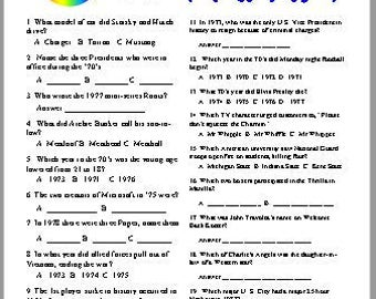 70's Trivia