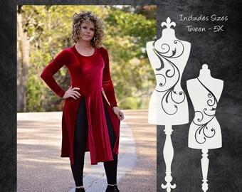 The Slash Tunic (Women's Sizes) PDF Sewing Pattern