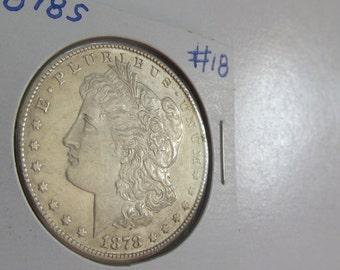 1878s Silver Dollar Antique Coins 1878 s  Morgan Dollar USA Silver Coins Antique US Coin Silver US Currency Rare Coin