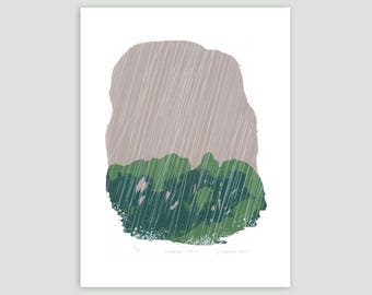 Summer Rain Screenprint – Limited Edition