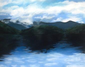 Lake Fontana, giclee print
