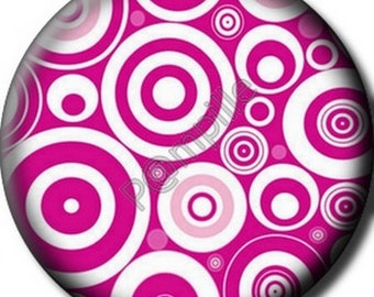 Cabochon resin 25 mm - circles in pink (918) stick
