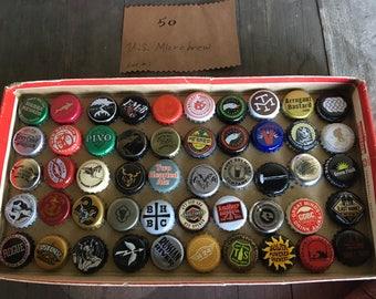 50 US Microbrew caps -lot #1
