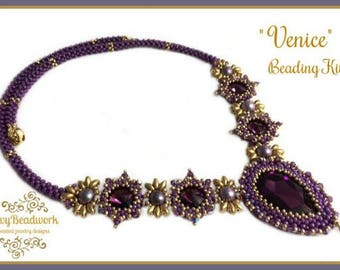 """Only Beads Kit : """"Venice"""" Necklace in English D.I.Y."""