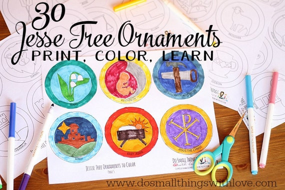 It's just a picture of Nifty Free Printable Jesse Tree Ornaments
