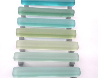 10 beach glass pulls