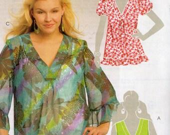 RUFFLED TOPS McCall's Pattern 5663 WOMAN'S Sizes 18W 20W 22W 24W