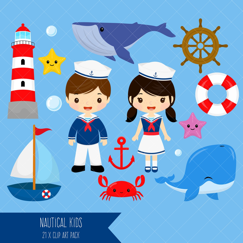 nautical kids clipart sailor boy clip art sailor girl clip art rh etsystudio com seashore clipart black and white seashore clipart free