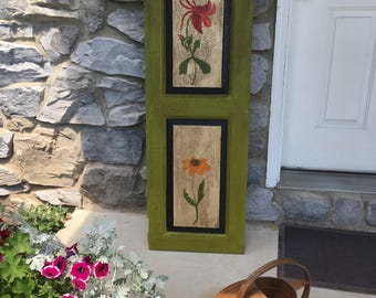 Painted Wooden Shutter // Front Porch Decor