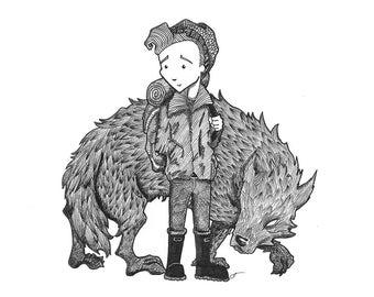 The Beast Of Dartmoor -- A5 High Quality Giclée Print