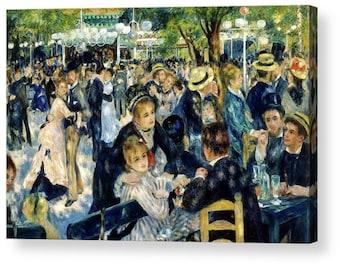 Dance at Le Moulin de la Galette by Pierre Auguste Renoir Canvas Box Art A4, A3, A2, A1 ++