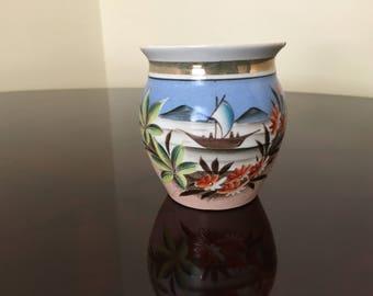 Vintage 1950's painted coffee mug holder