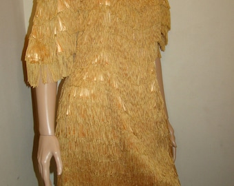 Price Reduced Vintage Handmade Fringe Flapper Dress Small Size Adult