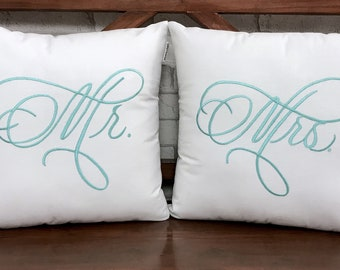 30%OFF Sale MR and MRS Pillow Set Cushion Personalized Gift  Love Gift Available in All Sizes And Color
